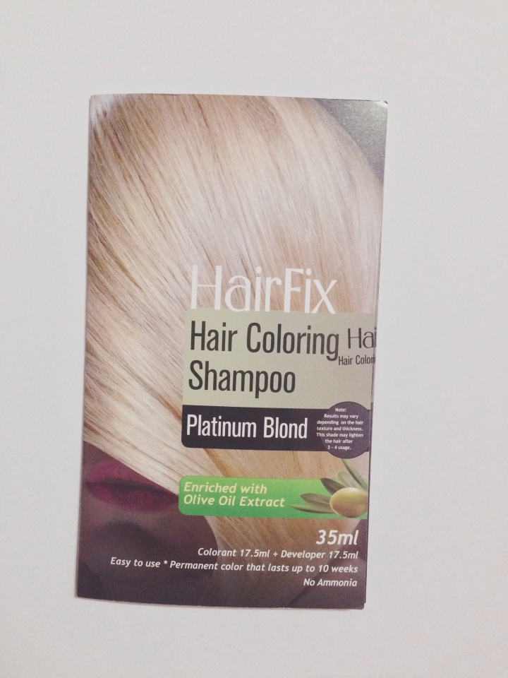 Hairfix Hair Coloring Shampoo In Platinum Blond I Am Dyeing